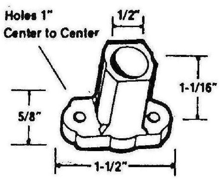 american hardware mfg mobile home hardware window Laboratory Diagram click here for dimensions awning window bearings